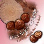 Lázeňské oplatky – s příchutí marcipánu v čokoládě